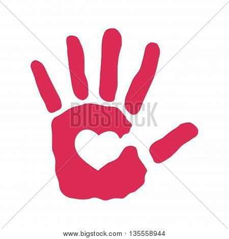Help concept represented by abstract hand icon over flat and isolated background
