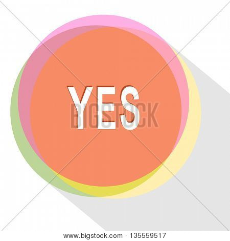 yes. Internet template. Vector icon.
