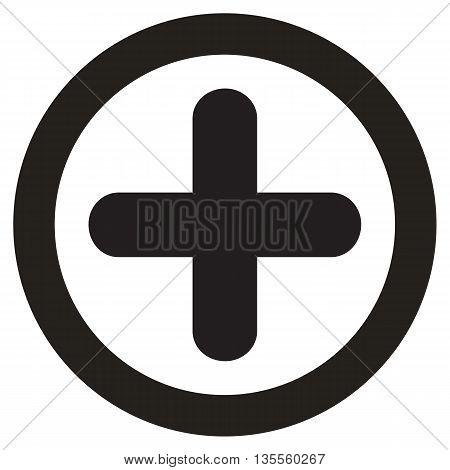 Add black icon square composition white background activity