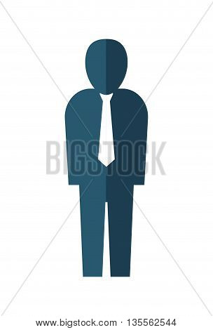 Person concept represented by businessman with necktie icon over flat and isolated background