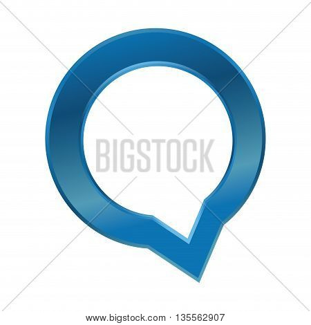 Communication concept represented by bubble icon over flat and isolated background