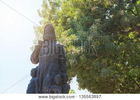 Demre, Turkey - July, 2015: The statue of St. Nicholas in Demre Turkey
