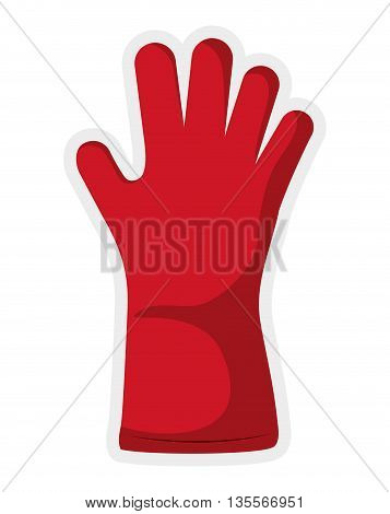 Gardening concept represented by glove  icon over flat and isolated background
