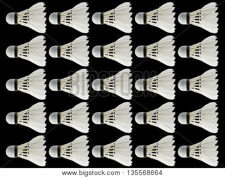 a shuttlecock badminton in black background isolate