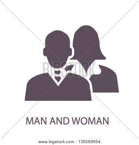 man woman icon