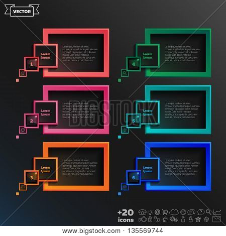 Vector Speech Infographic Elements.