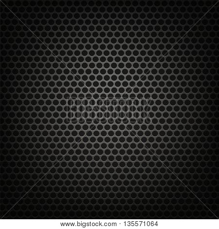 Metallic Grid Perforated Background. Grey Metal Circle Pattern
