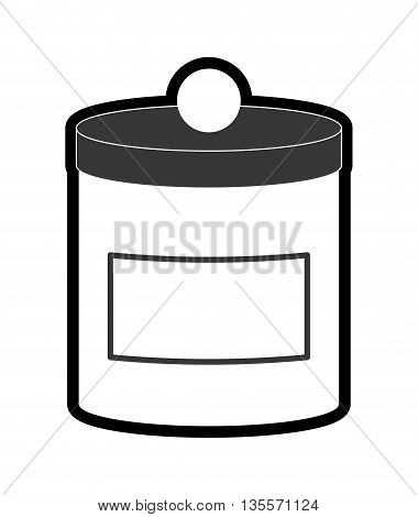 Food Container concept represented by Jar icon over flat and isolated background