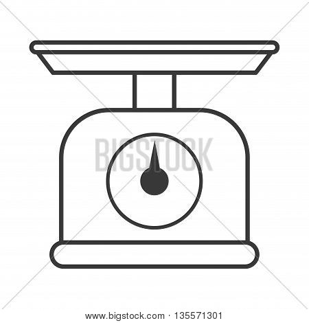 Scale concept represented by weight icon over flat and isolated background