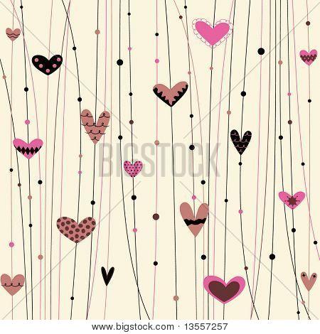 Vector fondo de corazones