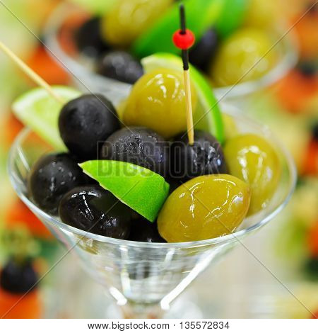 Gourmet food - olives (shallow depth of field)