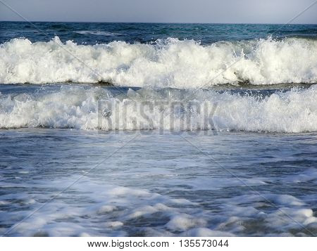 photography with scene of the sea storm landscape