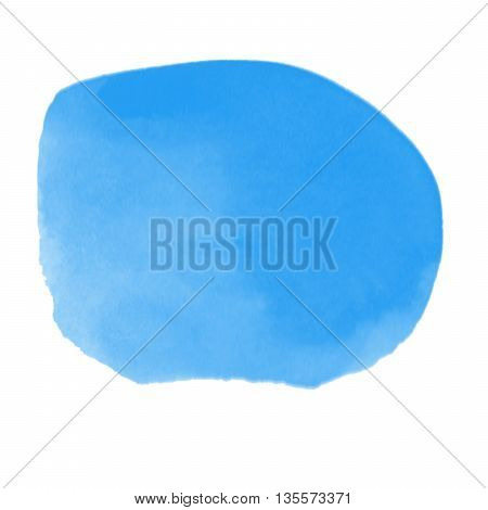 Abstract painted blue ink and watercolorcolor splatter for use in brushes or background for abstract creative work in many kind of pattern isolated on white background