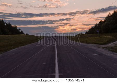 Road to sunset time beautiful landscape A.