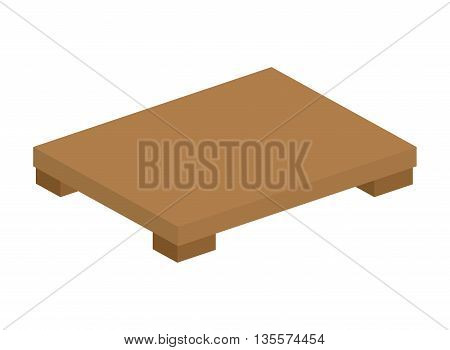 Japan culture concept represented by traditional table icon over flat and isolated background
