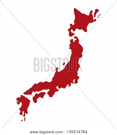 Japan culture concept represented by map icon over flat and isolated background