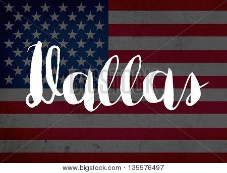 Dallas written with hand-written letters