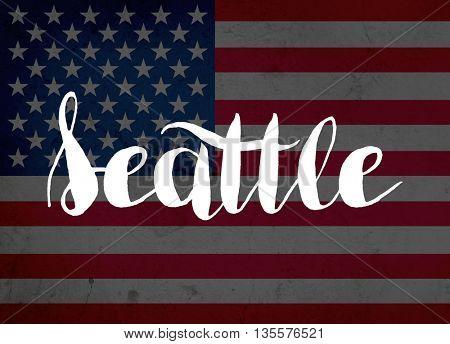 Seattle written with hand-written letters