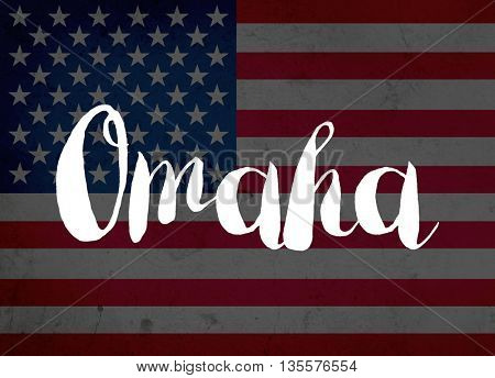 Omaha written with hand-written letters
