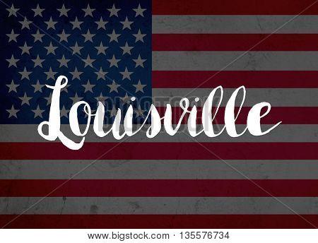 Louisville written with hand-written letters