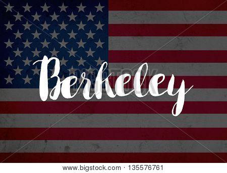 Berkeley written with hand-written letters