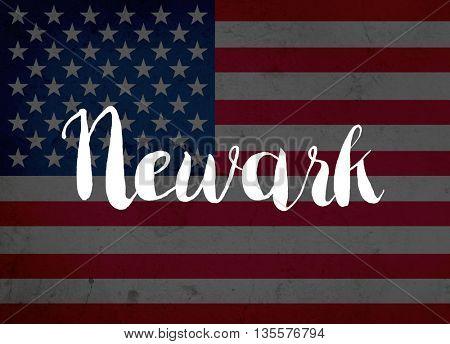 Newark written with hand-written letters