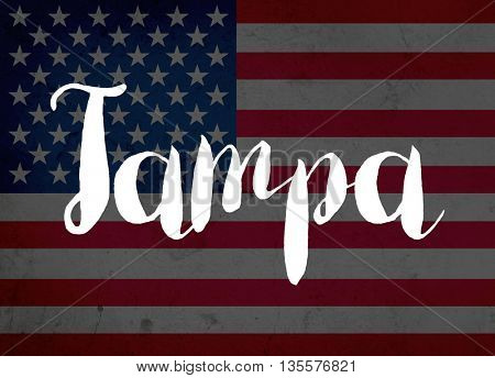 Tampa written with hand-written letters