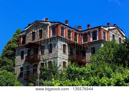 Building Details In Karyes On Holy Mount Athos