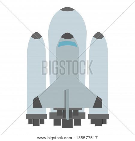 flat design of space shuttle icon vector illustration