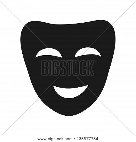 Carnival and theater represented by mask icon over isolated and flat background