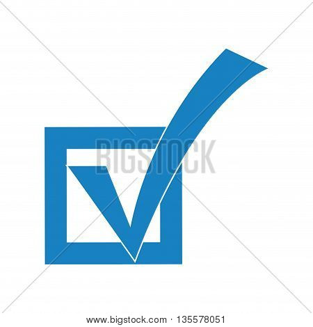 Check represented by mark frame icon over isolated and flat background