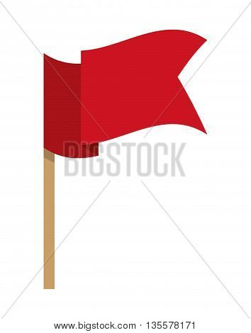 Pennant represented by flag icon over isolated and flat background