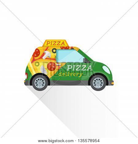 Pizza Fast Delivery Mini Car.