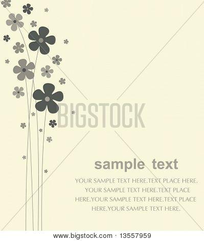 vector flower card design