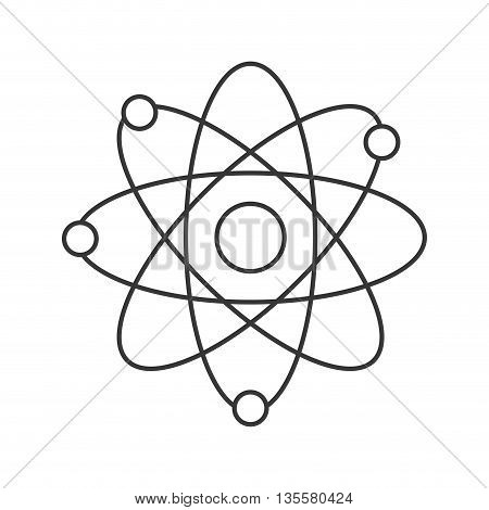 line design of atom with orbits icon vector illustration