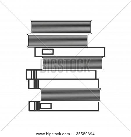 line design stack of books icon vector illustration