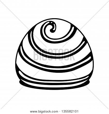 Dessert represented by chocolate icon over isolated and flat background