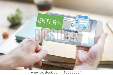 Enter Button Display Identification Operating Concept