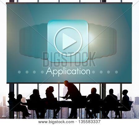 Application Program Icon Apply Career Concept