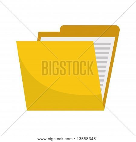 Document represented by file icon over isolated and flat background