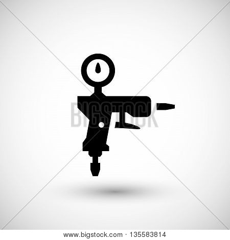 Paint gun icon isolated on grey. Vector illustration