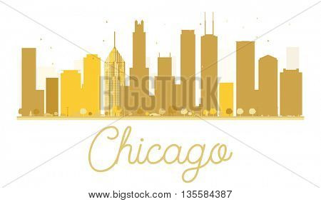 Chicago isolated on white background