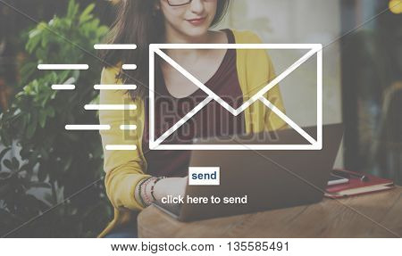 Email Communication Correspondence Envelope Concept