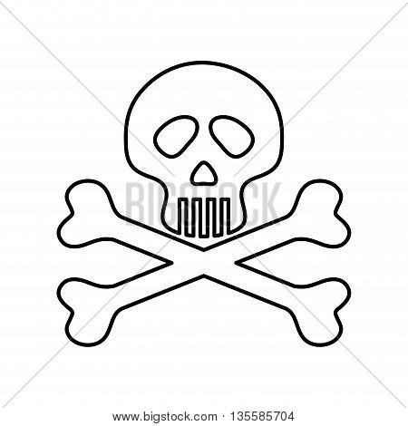 Death represented by skull icon over isolated and flat background