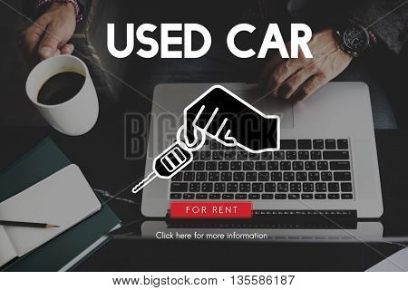 Used Car Offer Service Auto Concept