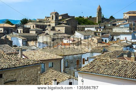 Panorama of Bovino one of the most beautiful villages in Italy. Puglia - Italy