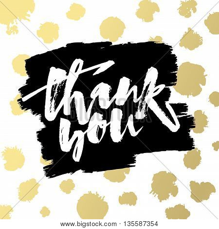Thank You Card. Hand Lettering Motivation Poster.