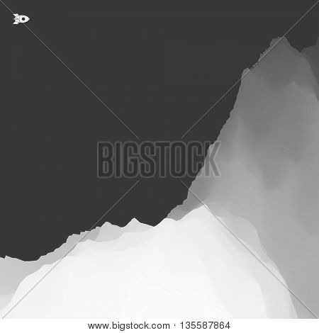 3D Mountain Landscape. Mountainous Terrain. Abstract Background. Vector illustration.