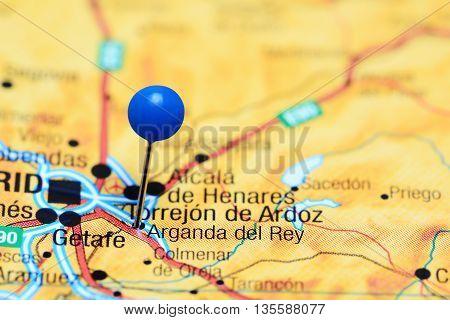 Arganda del Rey pinned on a map of Spain
