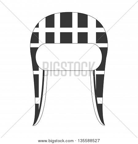 grey and white winter knit hat icon vector illustration